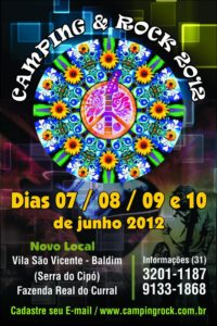 Cartaz Camping Rock 2012