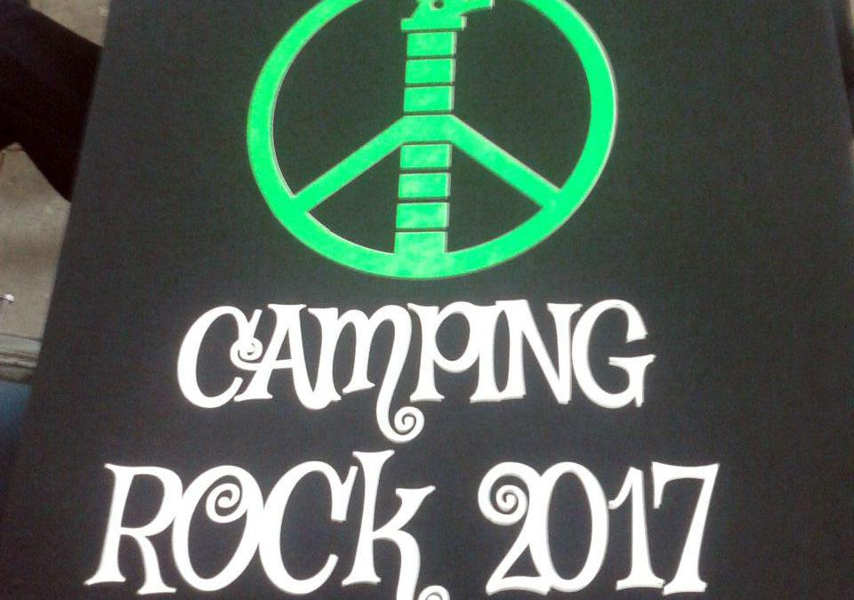 Chegou a primeira remessa de camisetas Camping Rock 2017
