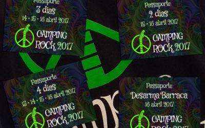 Camping Rock lança passaportes para 4, 3, 2 e 1 dia